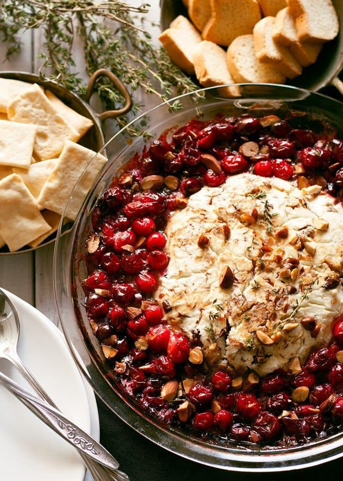 Christmas Recipes Appetizers  Baked Goat Cheese Roasted Cranberry Appetizer Recipe