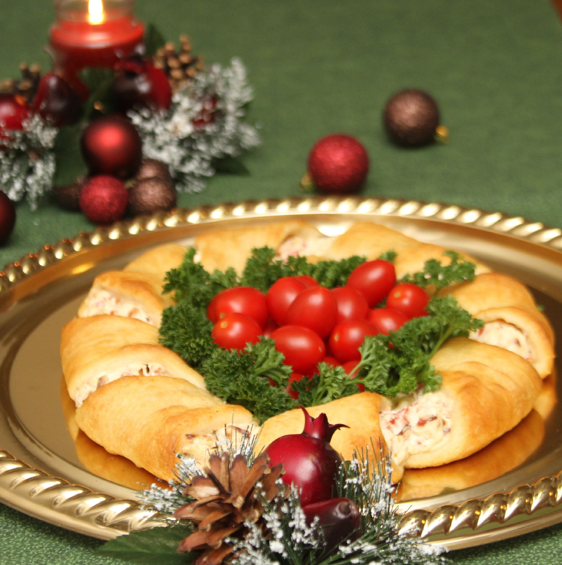 Christmas Recipes Appetizers  Christmas Wreath Crescent Rolls Appetizer Recipes Just