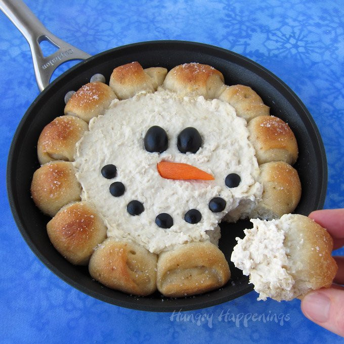 Christmas Recipes Appetizers  Skillet Dip Snowman Christmas Appetizer Hot Chicken Dip