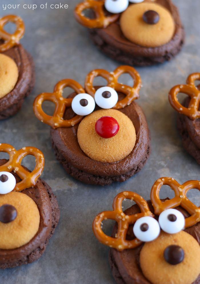 Christmas Reindeer Cookies  How to Make Rudolph Cookies