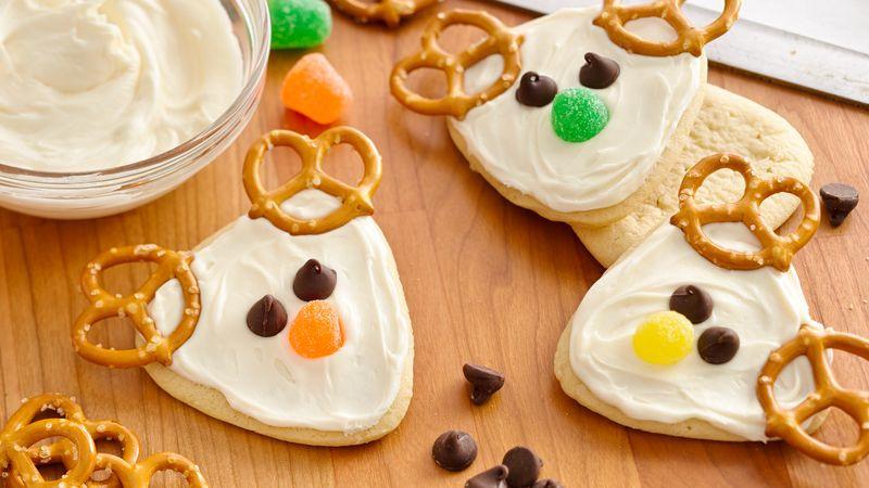 Christmas Reindeer Cookies  Frosted Reindeer Cookies Recipe Pillsbury
