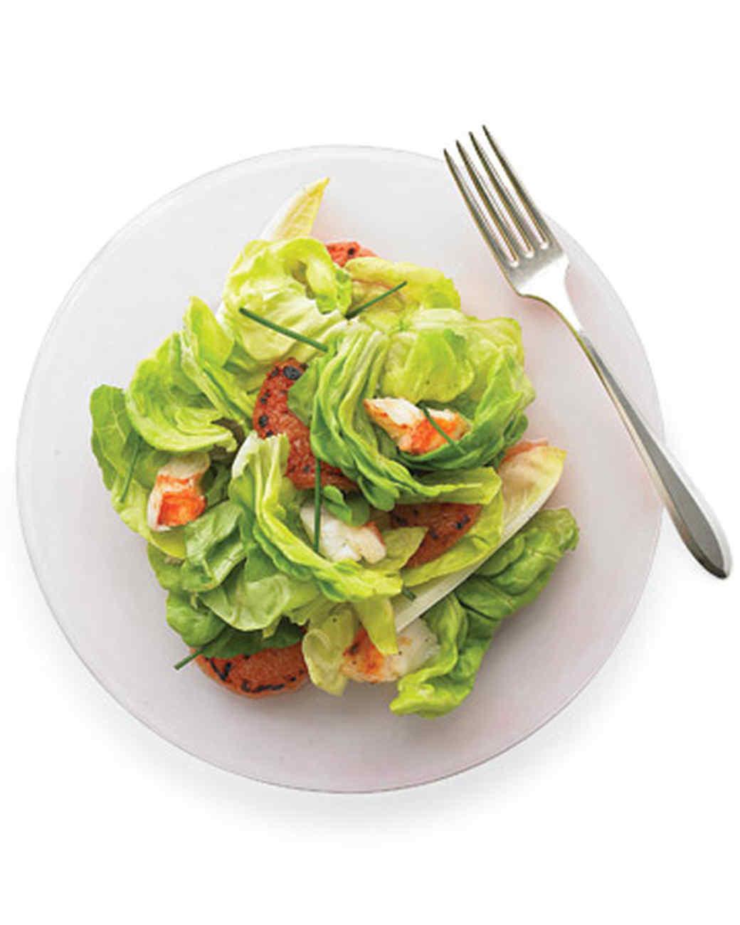 Christmas Salads Martha Stewart  Broiled Lobster and Grapefruit Salad Recipe