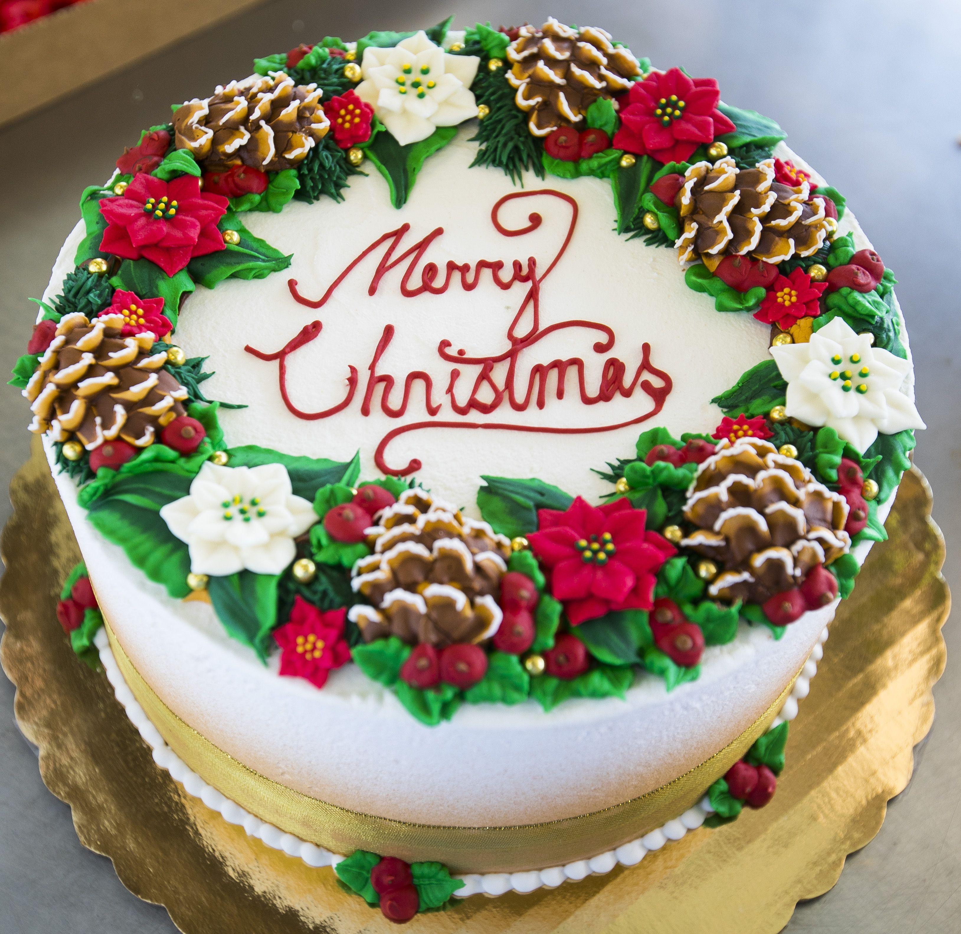 Christmas Sheet Cake  Bakery Cakes Christmas and Holiday Cakes