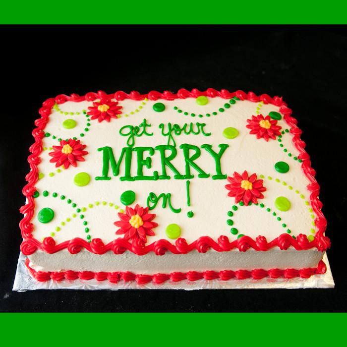 Christmas Sheet Cake  Christmas Cakes