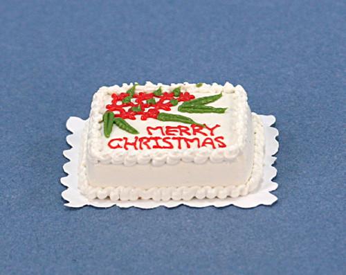 Christmas Sheet Cake  Dollhouse Miniature Christmas Sheet Cake STC006
