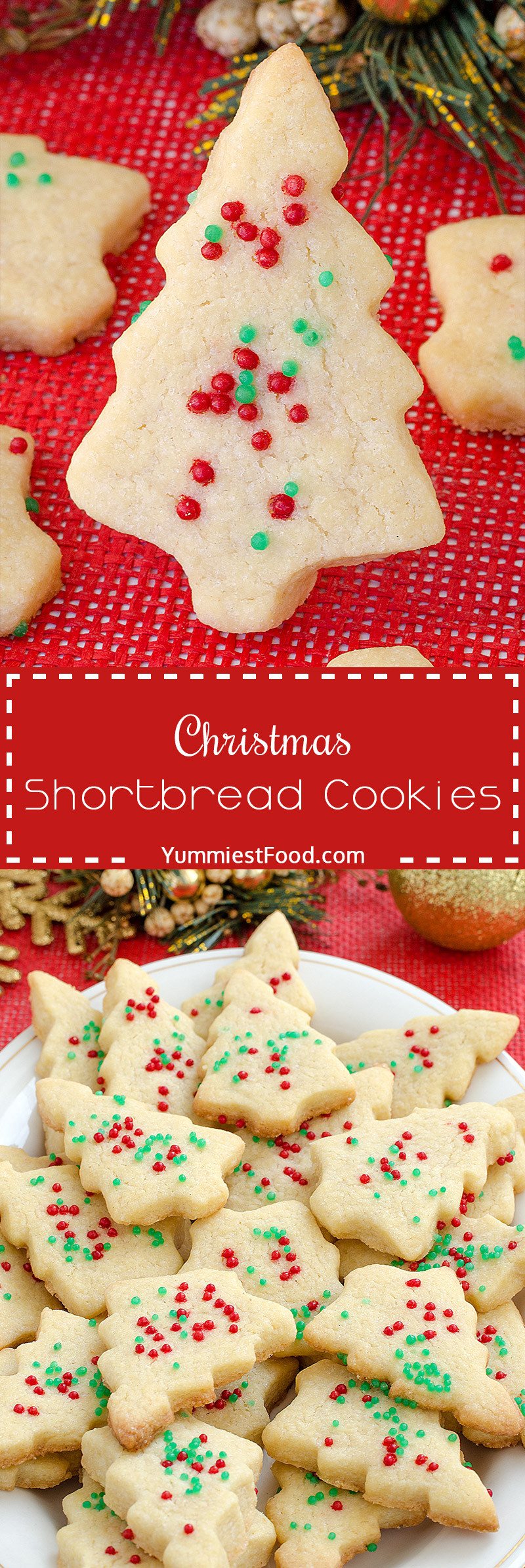 Christmas Shortbread Cookies Recipe  Christmas Shortbread Cookies Recipe from Yummiest Food
