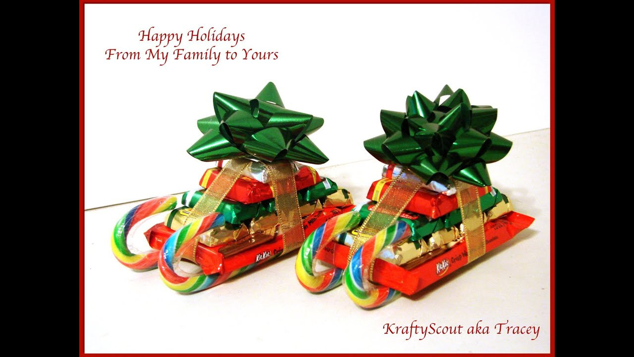 Christmas Sleigh Candy Craft  CHRISTMAS CANDY CANE SLEIGH HOW TO You ve Been Elfed