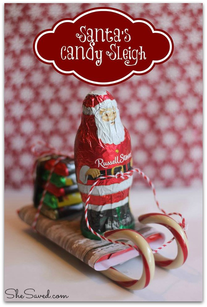 Christmas Sleigh Candy Craft  Santa Candy Sleigh Christmas Craft SheSaved