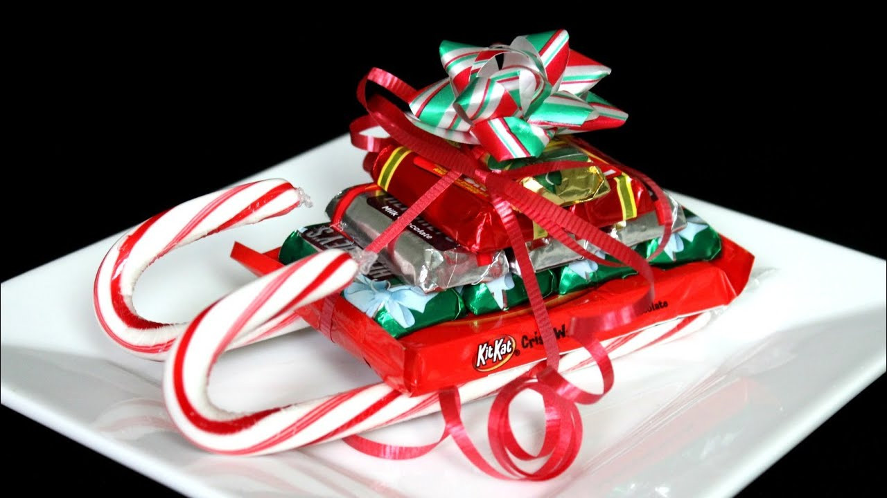 Christmas Sleigh Candy Craft  CHRISTMAS CANDY CANE SLEIGH HOW TO