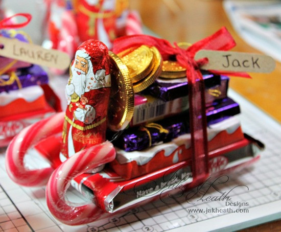 Christmas Sleigh Candy Craft  DIY Chocolate Sleigh Stocking Fillers Fun Crafts Kids