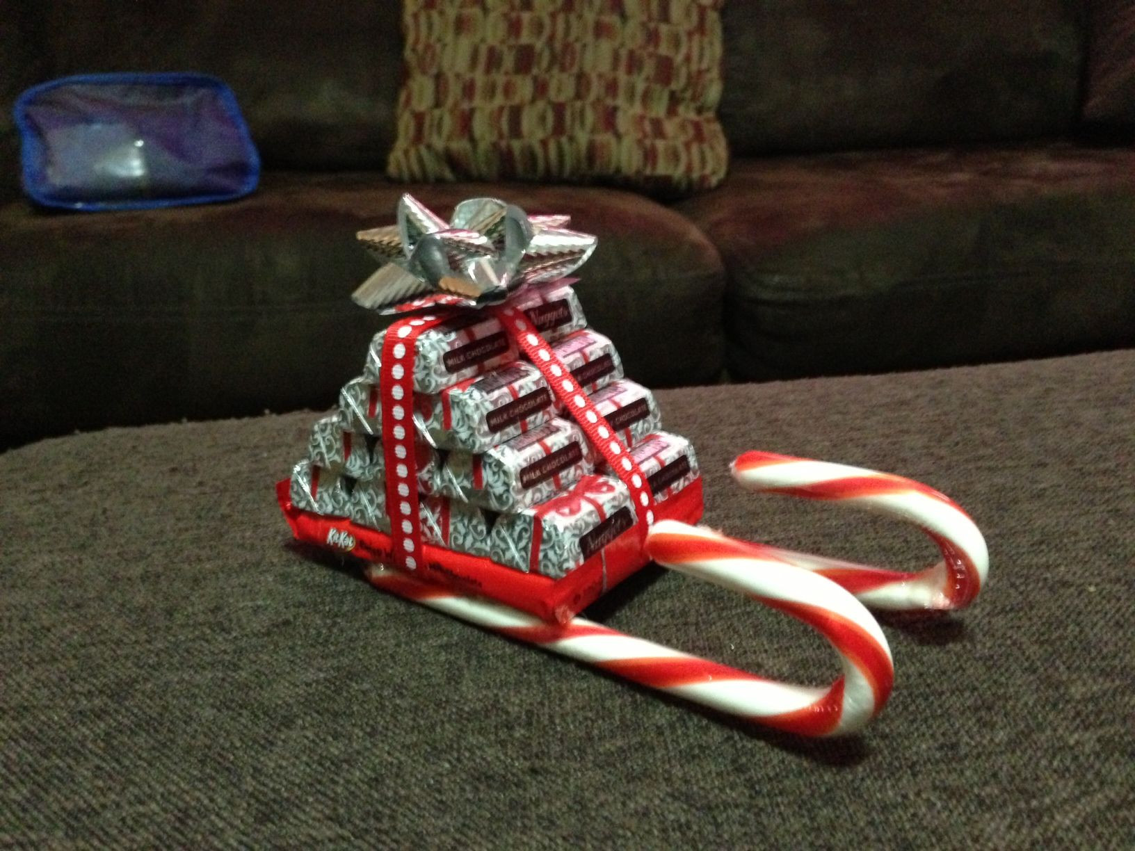 Christmas Sleigh Made Out Of Candy  Santa s Sleighs made out of candy