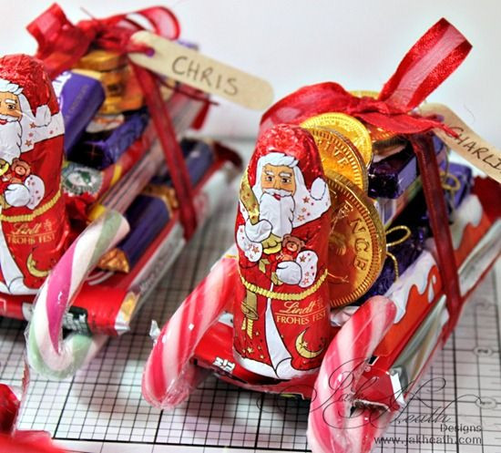 Christmas Sleigh Made Out Of Candy  Santa s sleigh made from sweets and chocolate