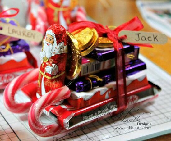 Christmas Sleigh Made Out Of Candy  Cómo hacer un trineo con dulces para obsequiar en navidad