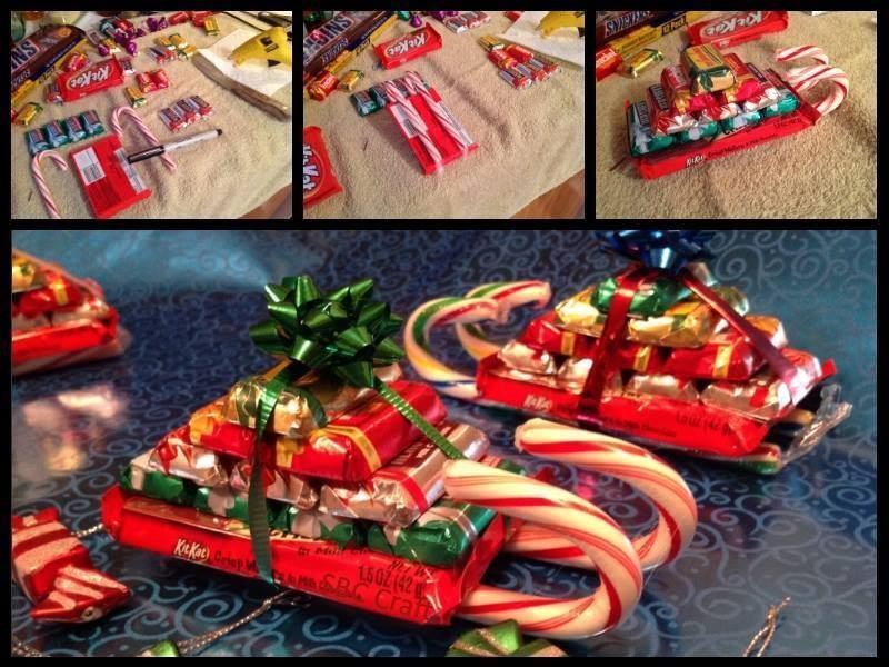 Christmas Sleigh Made Out Of Candy  Candy Cane Sleighs