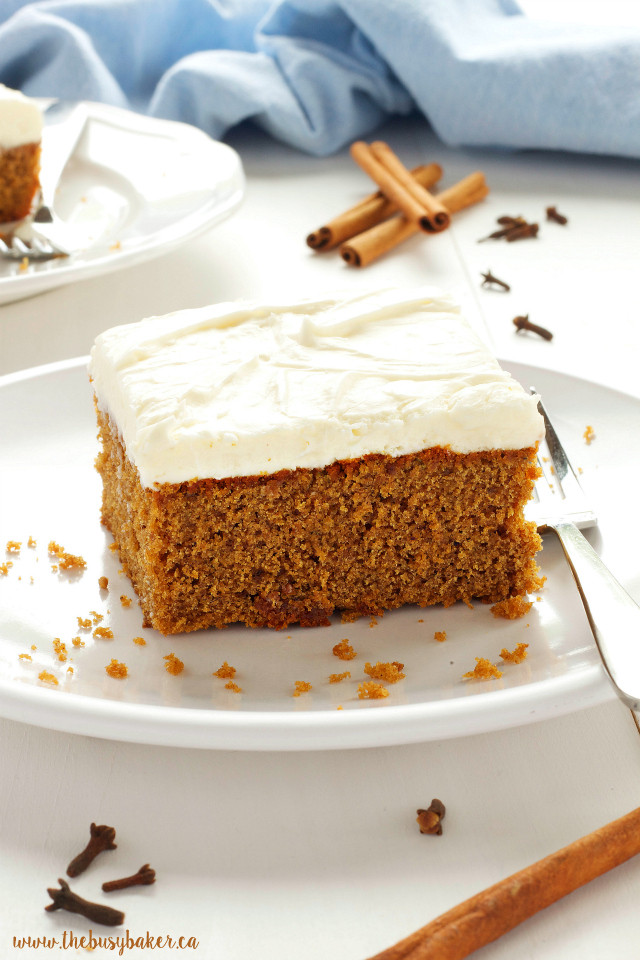 Christmas Spice Cake  The Busy Baker Gingerbread Spice Cake with Fluffy Cream