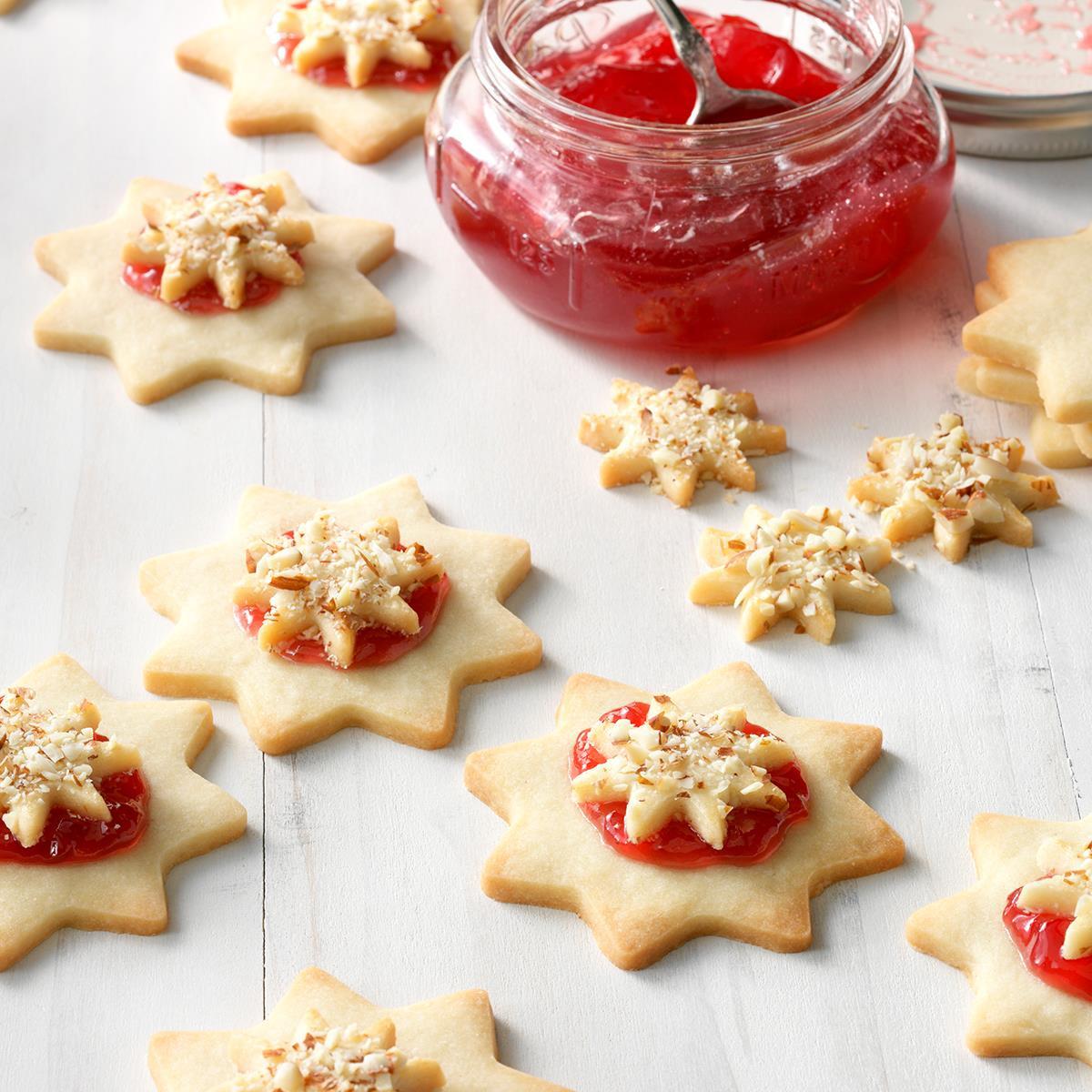 Christmas Star Twisted Bread  Almond Raspberry Stars Recipe