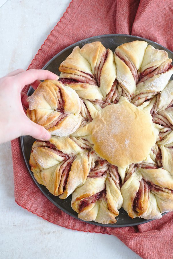 Christmas Star Twisted Bread  Christmas Raspberry Star Bread Recipe Mildly Meandering
