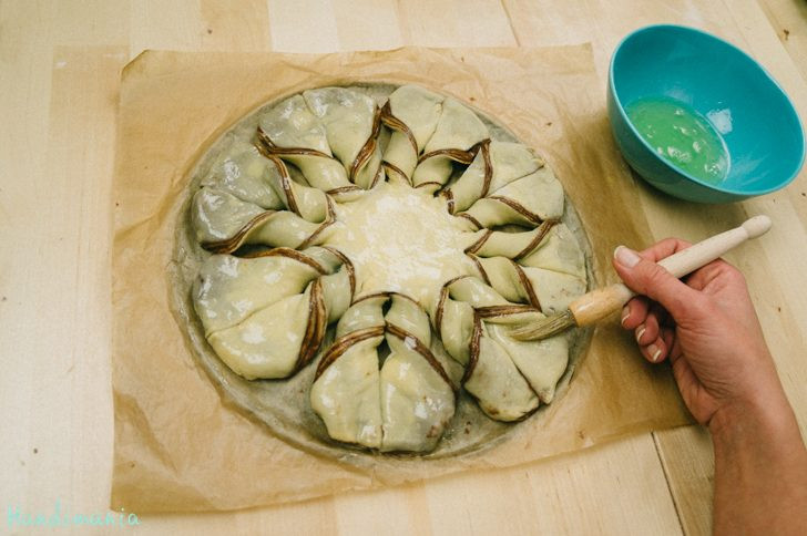 Christmas Star Twisted Bread  How to Make Braided Nutella Star Bread All Steps