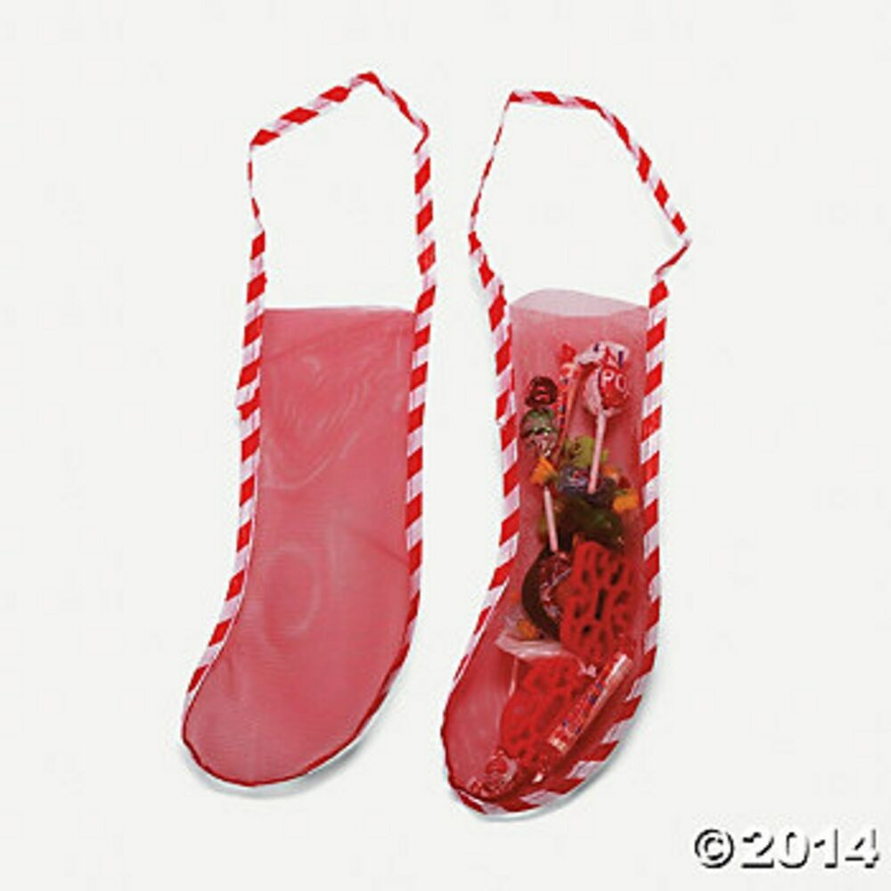 """Christmas Stocking Candy  10 18"""" MESH CHRISTMAS STOCKINGS Candy Toy Favor Stockings"""