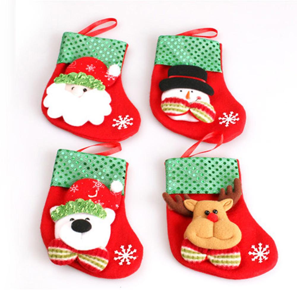 Christmas Stocking Candy  Fashion Christmas Stockings Socks Gift Bag Home Decoration