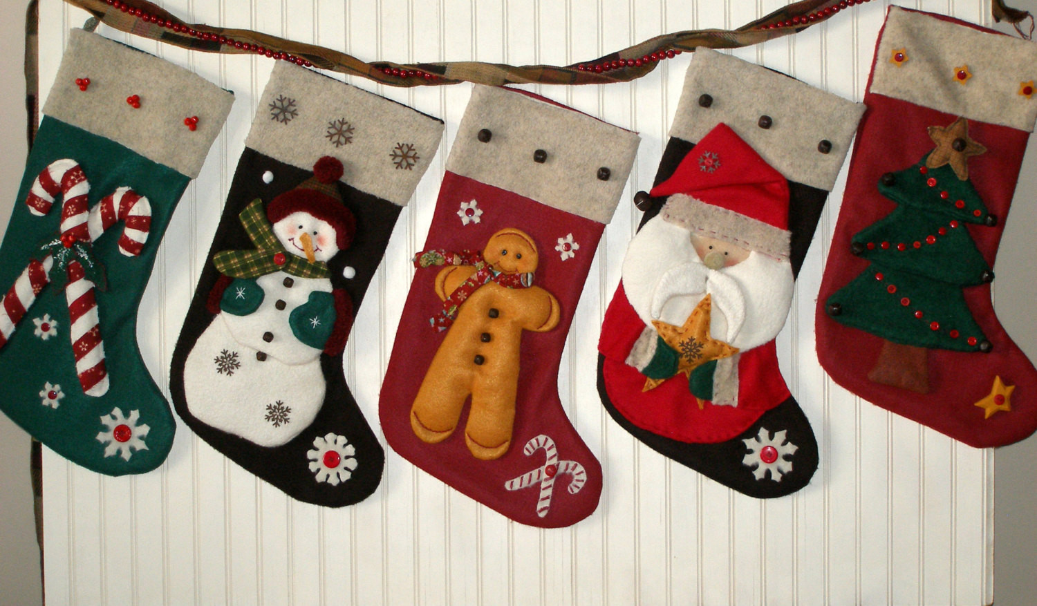 Christmas Stocking Candy  Christmas Stocking Santa Stocking Candy by RoseCottagePatterns