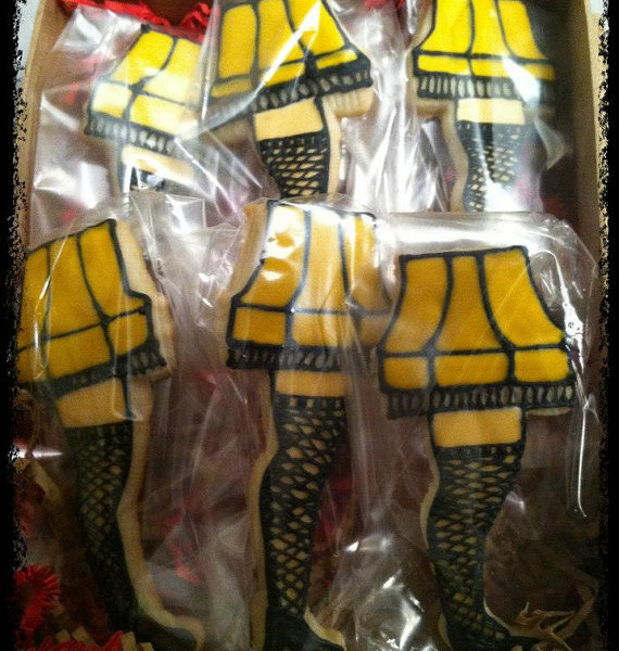 Christmas Story Leg Lamp Cookies  A Christmas Story Leg Lamp Cookie Gift Set