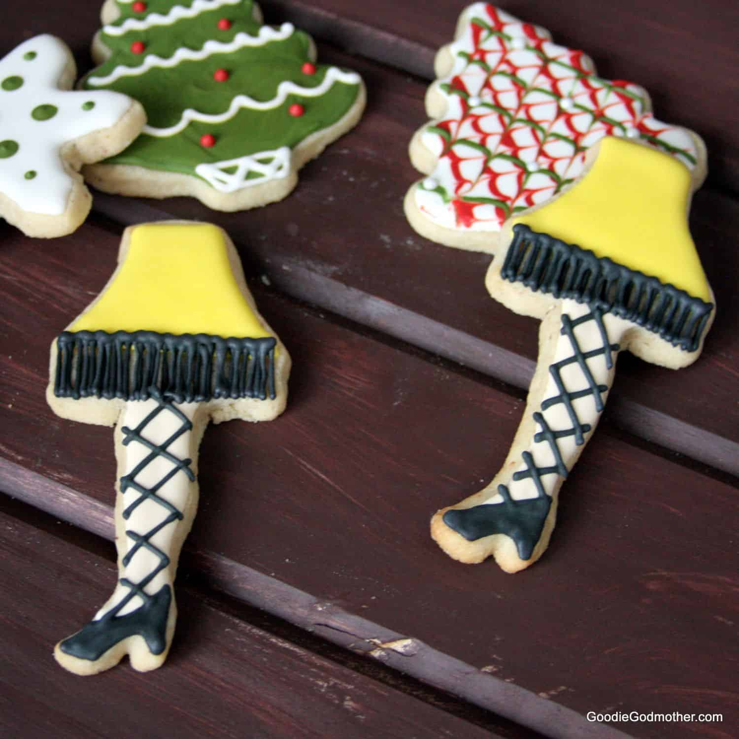 Christmas Story Leg Lamp Cookies  Video Christmas Leg Lamp Cookie Decorating Tutorial and