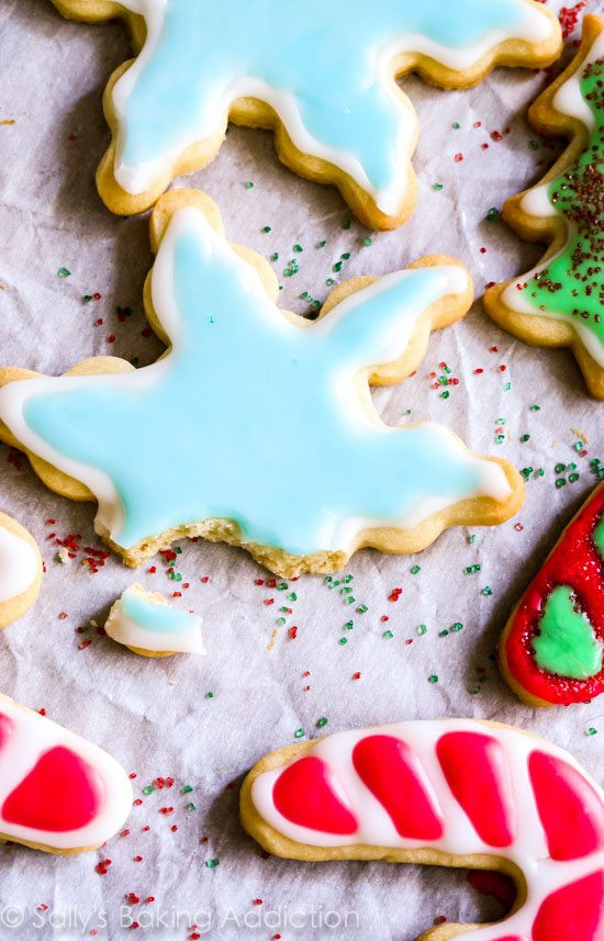 Christmas Sugar Cookie Icing Recipes  Holiday Cut Out Sugar Cookies with Easy Icing Sallys