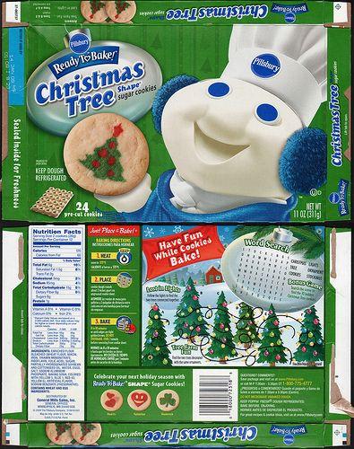 Christmas Sugar Cookies Pillsbury  Pillsbury Ready to Bake Christmas Tree Shape Sugar Cookies