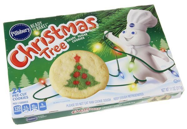 Christmas Sugar Cookies Pillsbury  Pillsbury Ready to Bake Christmas Tree Shape Sugar