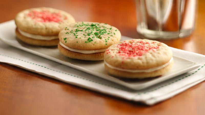 Christmas Sugar Cookies Pillsbury  Christmas Sugar Cookie Sandwich Cookies Recipe Pillsbury