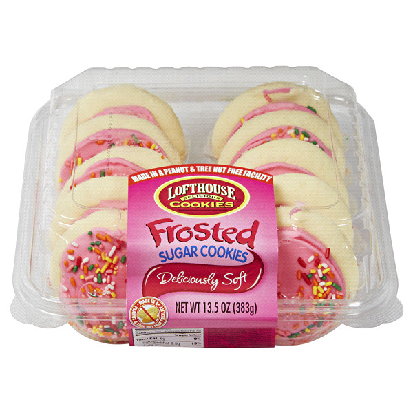 Christmas Sugar Cookies Walmart  Lofthouse Pink Frosted Sugar Cookies 13 5 oz 10 ct
