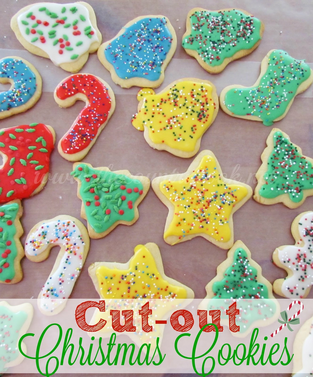Christmas Sugar Cookies With Icing  Cut Out Sugar Cookies The Country Cook