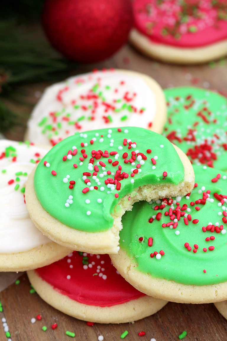 Christmas Sugar Cookies With Icing  Christmas Sugar Cookies with Cream Cheese Frosting Sweet