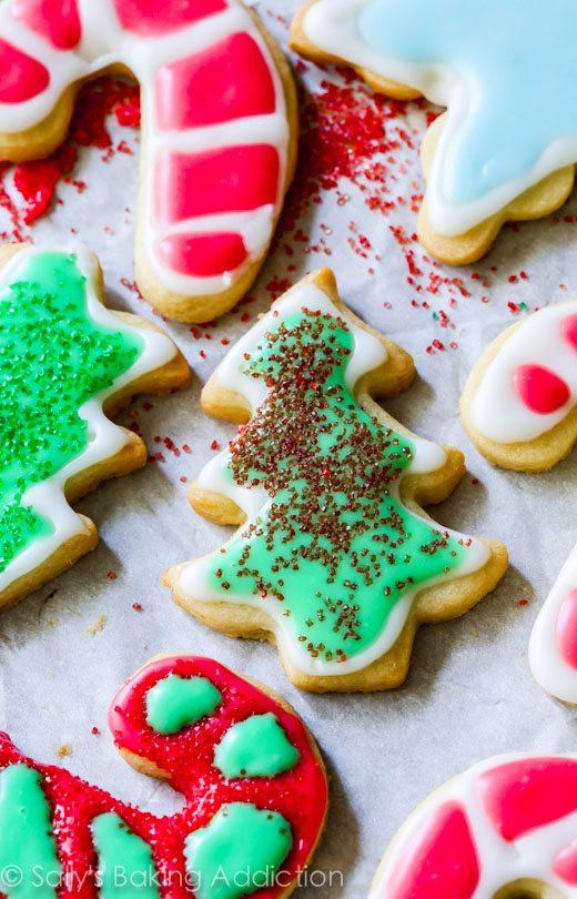 Christmas Sugar Cookies With Royal Icing  Christmas Sugar Cookies with Easy Icing