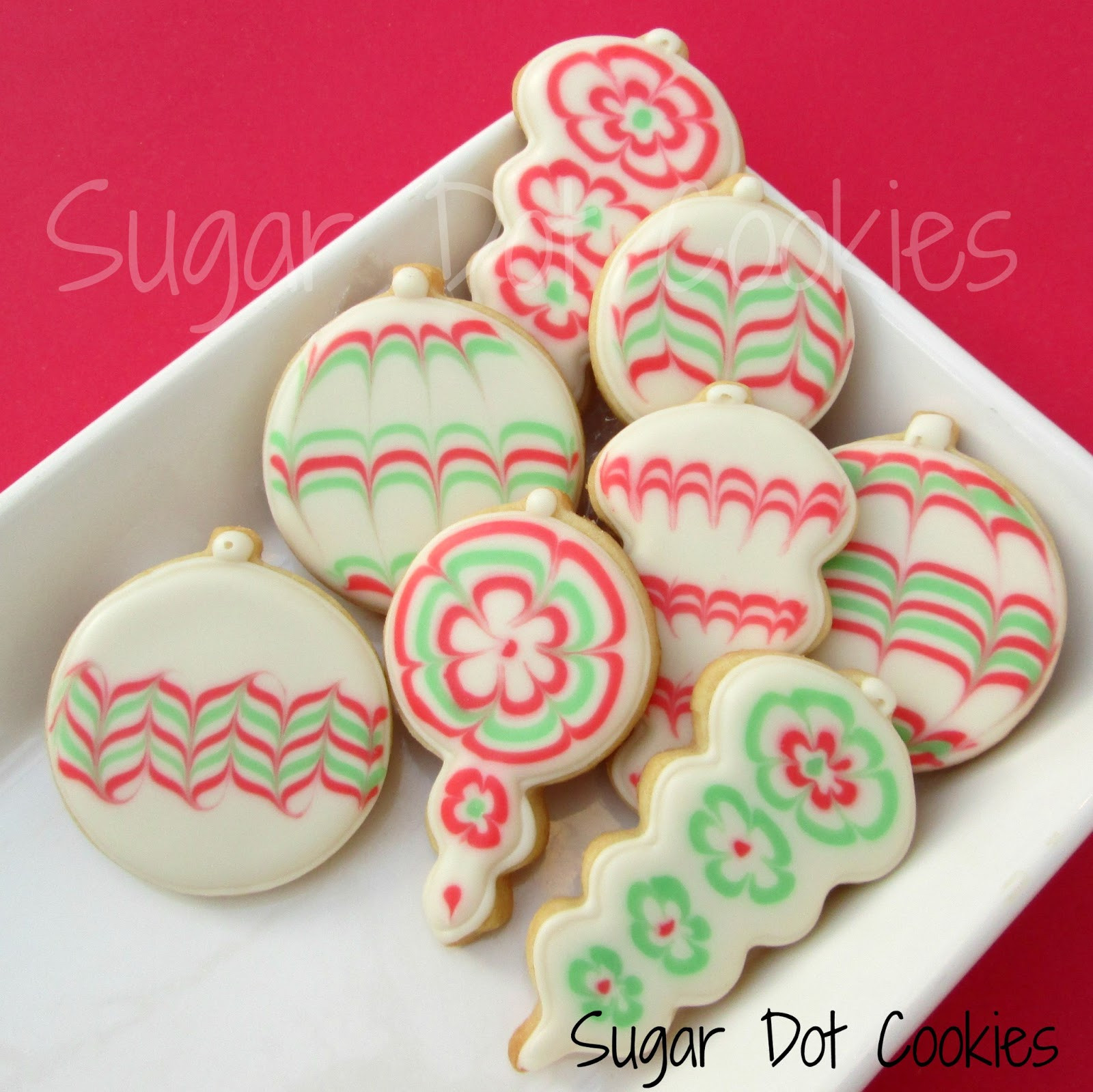 Christmas Sugar Cookies With Royal Icing  Snowmen faces and snowflakes for a holiday party