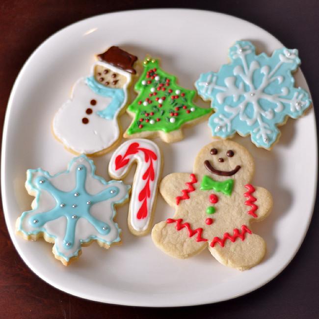Christmas Sugar Cookies With Royal Icing  foo Blog Archive Christmas Sugar Cookies