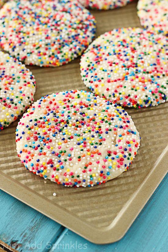 Christmas Sugar Cookies With Sprinkles  Sprinkled Sugar Cookies Recipe