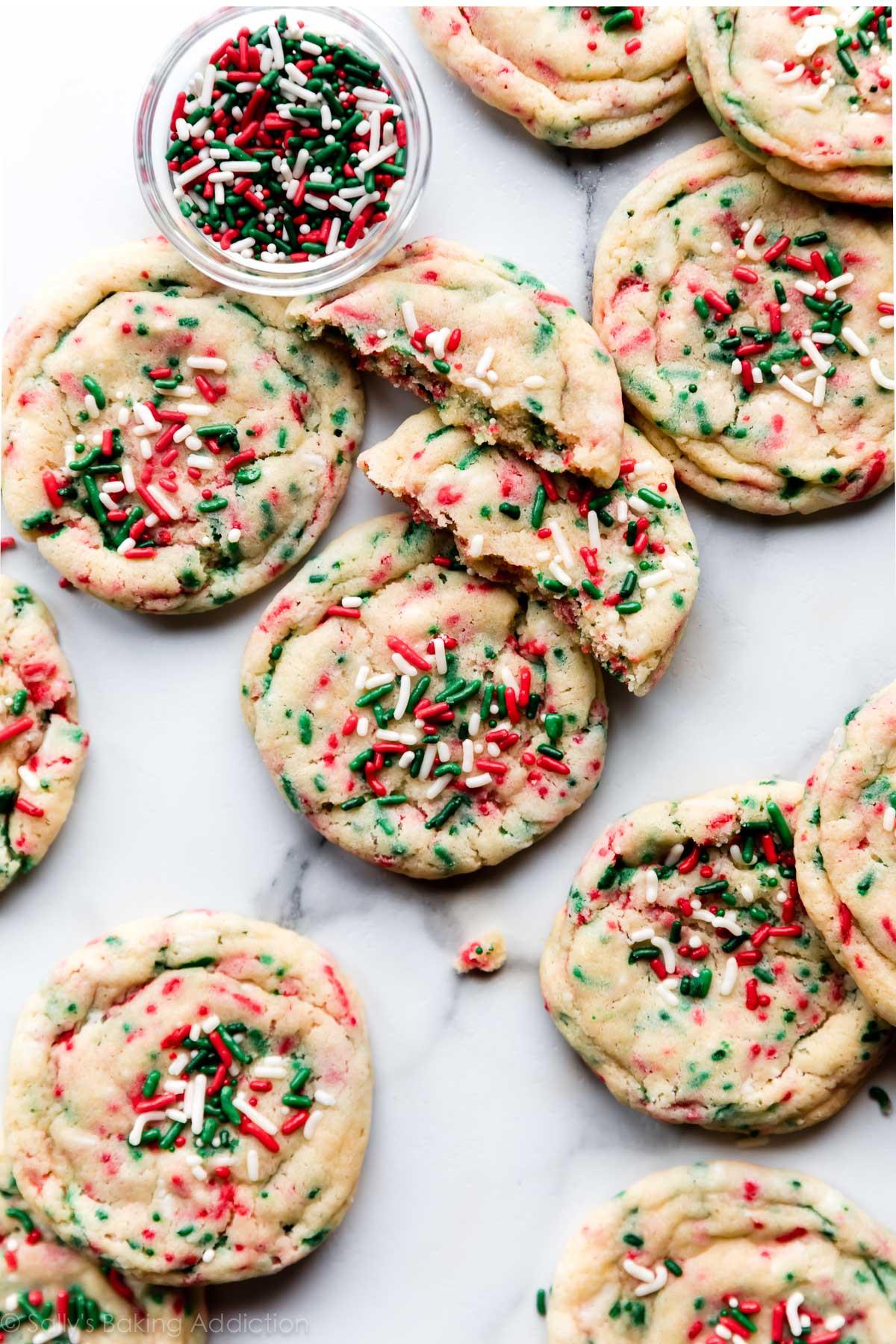 Christmas Sugar Cookies With Sprinkles  Drop Style Christmas Sugar Cookies