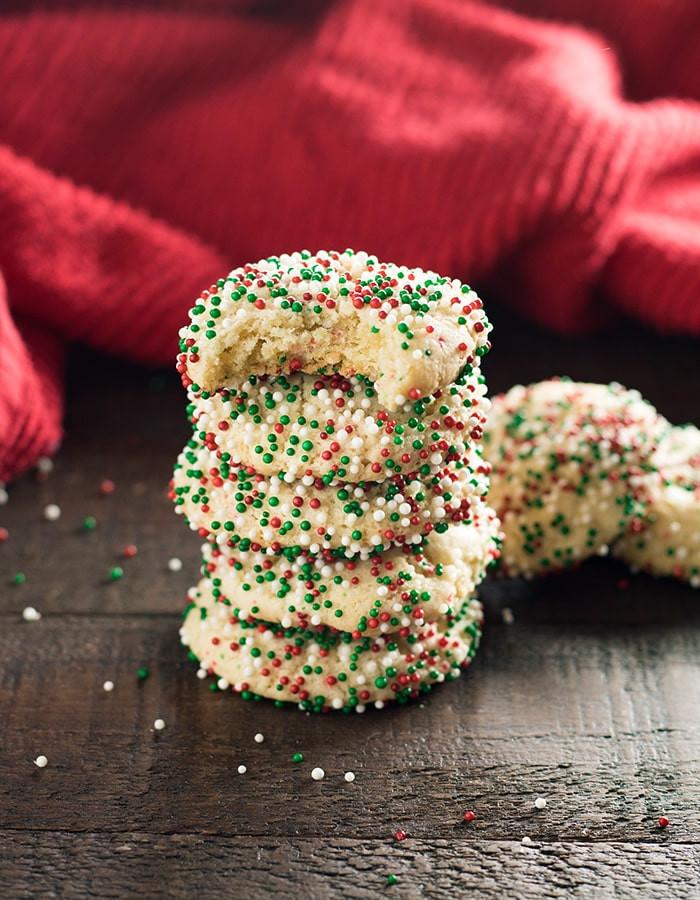 Christmas Sugar Cookies With Sprinkles  Soft Batch Christmas Sprinkle Cookies The Salty Marshmallow