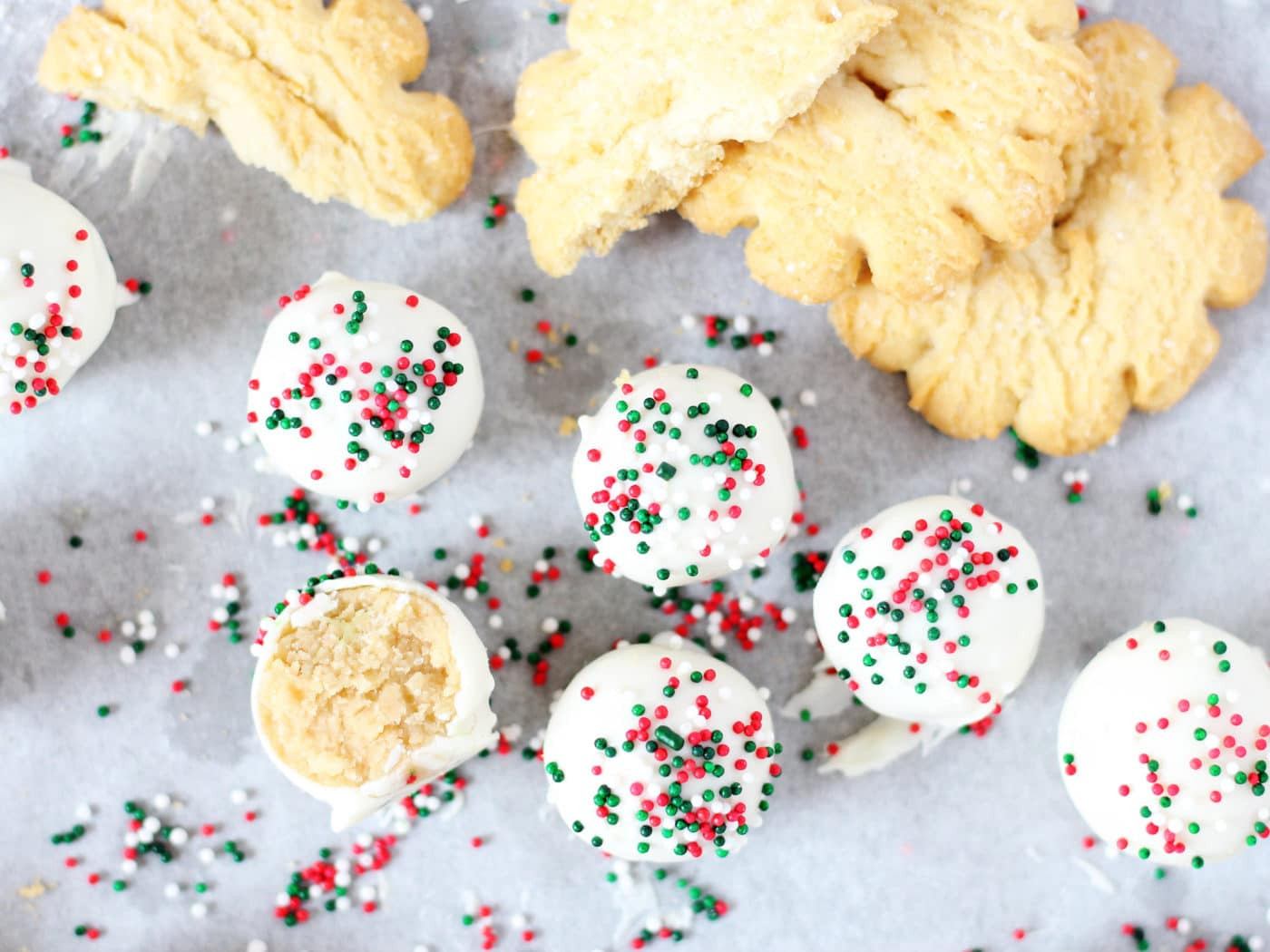 Christmas Sugar Cookies With Sprinkles  Christmas Sugar Cookie Truffles If You Give a Blonde a