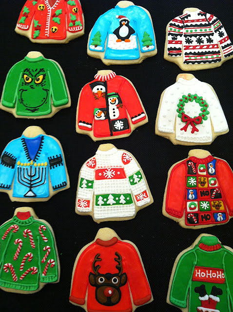 Christmas Sweater Cookies  Ugly Christmas Sweater Cookies