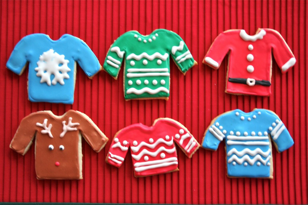 Christmas Sweater Cookies  Reindeer and Ugly Sweater Sugar Cookies A Dash of Megnut