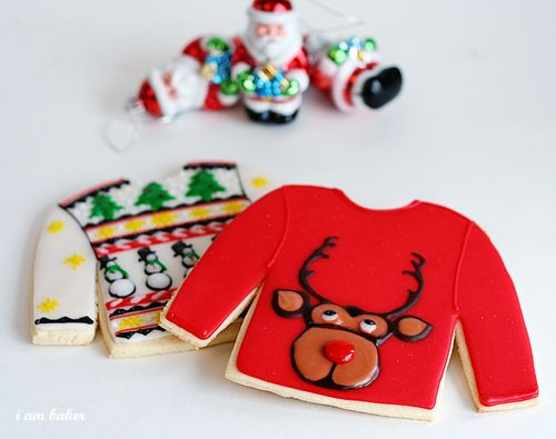 Christmas Sweater Cookies  Sugar Cookie Troubleshooting i am baker