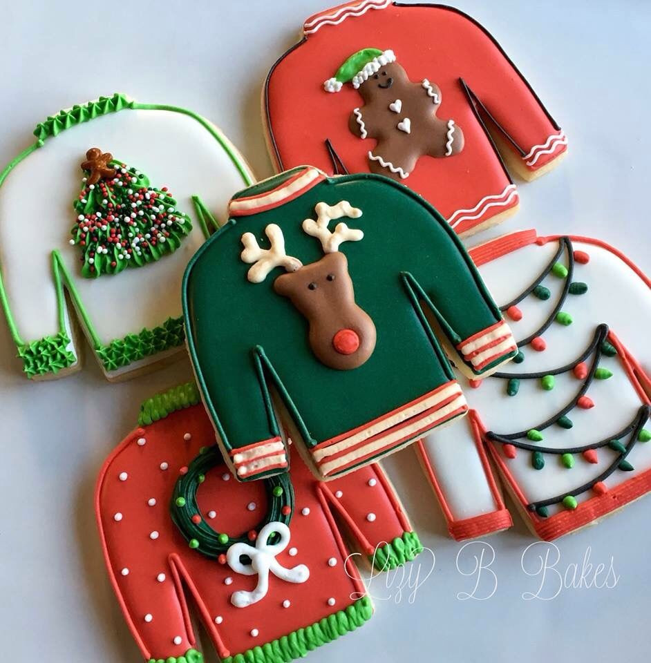 Christmas Sweater Cookies  Christmas Sweater Cookies The Holidays