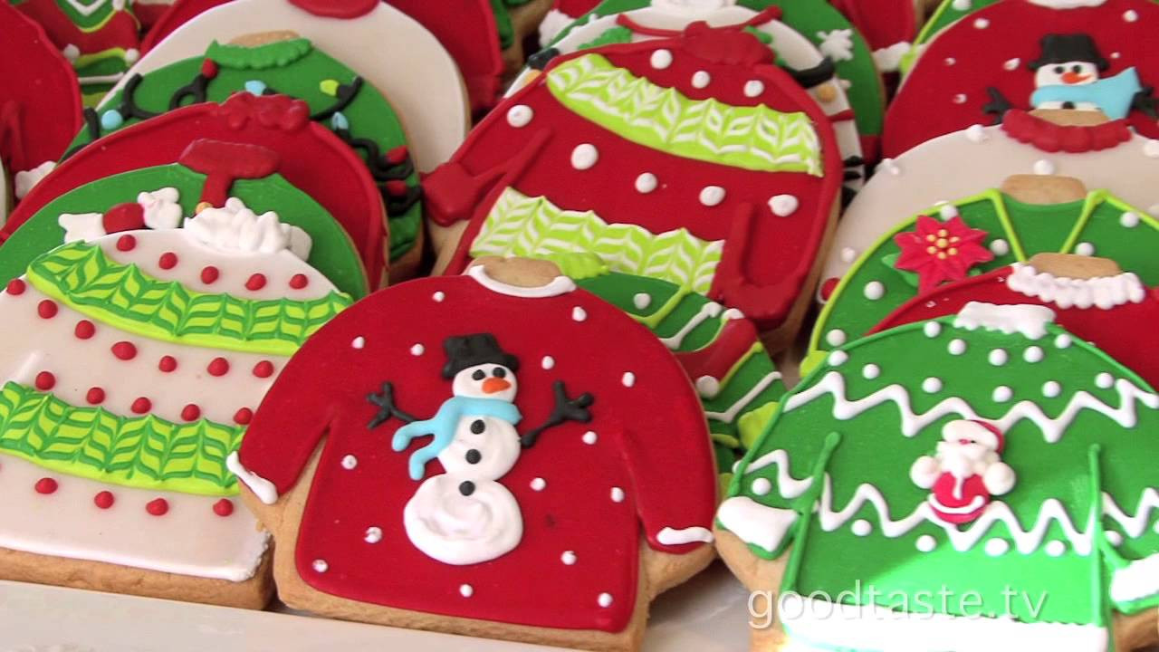 "Christmas Sweater Cookies  GoodTaste ""Tacky"" Sweater Cookies Rule at Lily s"