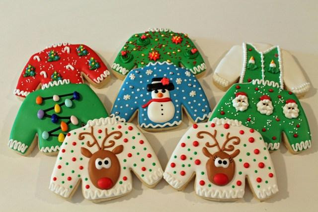 Christmas Sweater Cookies  Ugly Christmas Sweater Party Ideas by Funky Christmas Sweaters