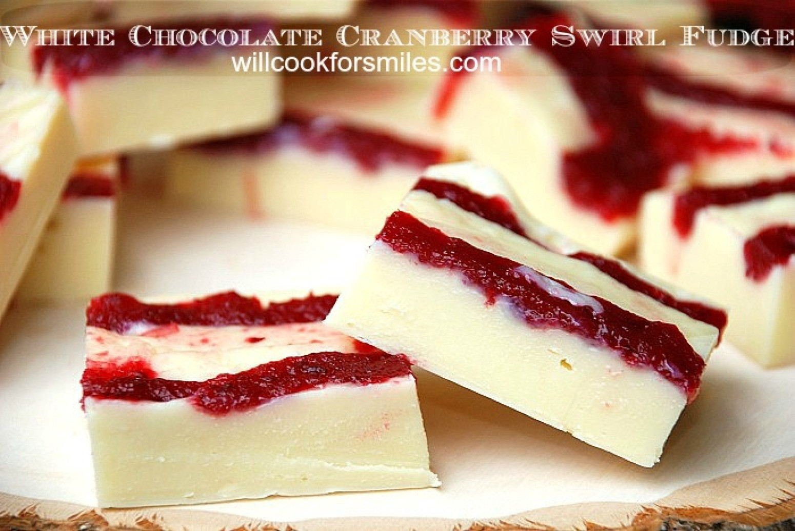 Christmas Swirl Fudge  White Chocolate Cranberry Swirl Fudge Recipe 2