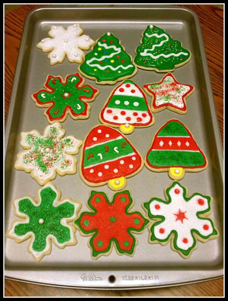 Christmas Themed Cookies  Decorated Christmas Cookies – My Five Fs