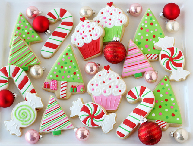 Christmas Themed Cookies  Decorated Christmas Cookies – Glorious Treats